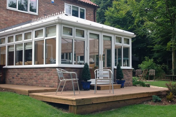Large conservatory exterior