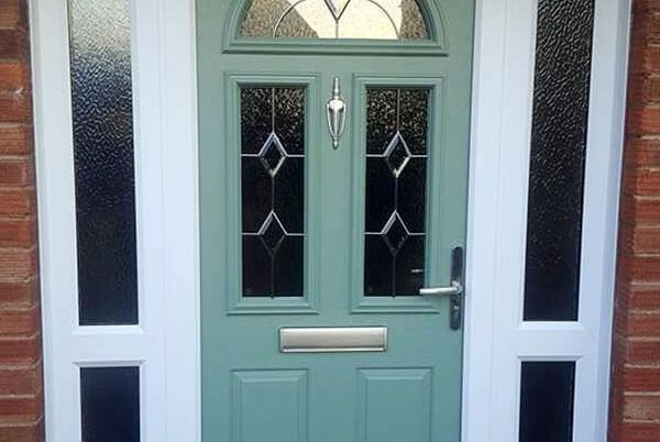 Old tired 1950\u0027s door replaced with a beautiful Chartwell Green composite door - Cleaver Windows \u0026 Doors & Old tired 1950\u0027s door replaced with a beautiful Chartwell Green ...