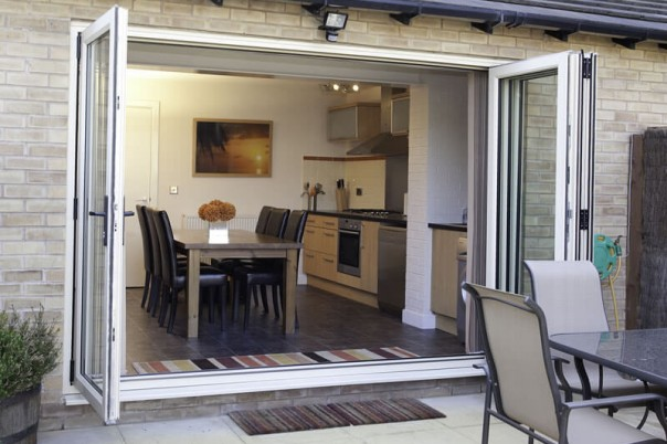 Bi-Fold door fully open