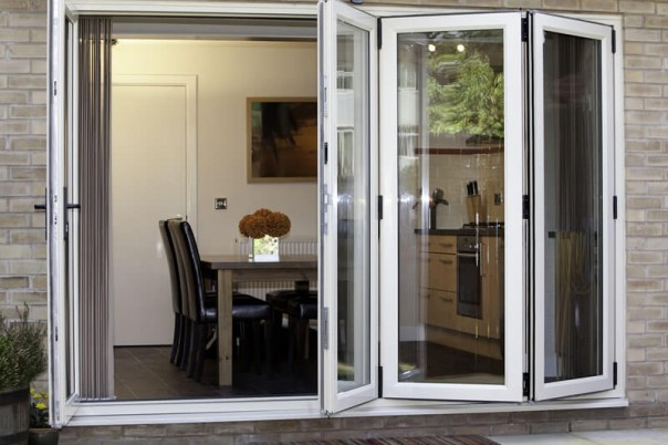 Bi-Fold door partially open