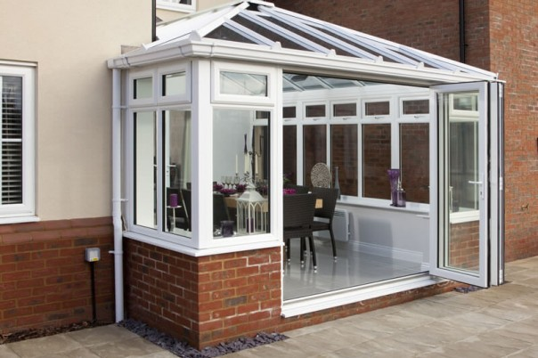 Conservatory with Bi-Fold door fully open