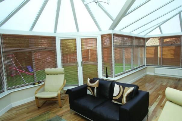 Modern conservatory interior