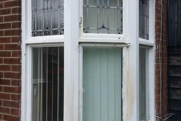 Bay window before upgrade