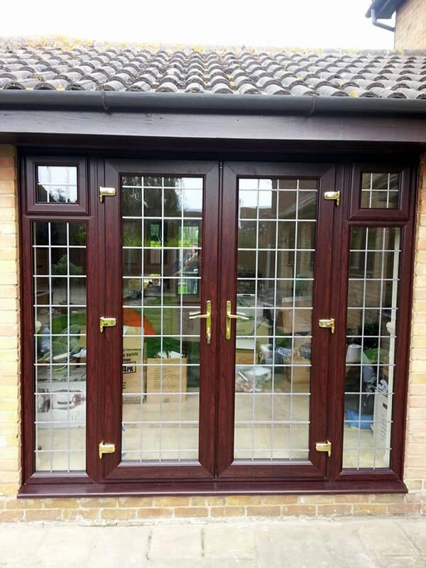 Rose Wood French Doors With Square Leads Cleaver Windows