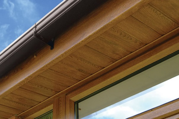 Wood effect soffits
