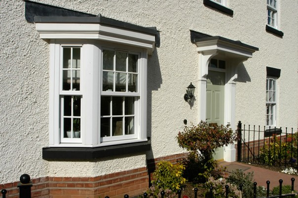 Bay window on front of house