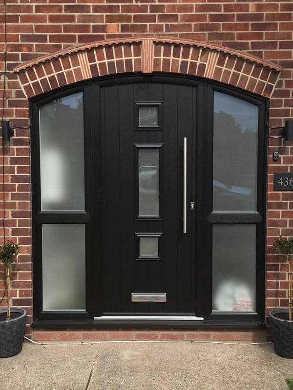 Old Plain Pvc Patio Door Replaced With Beautiful Black