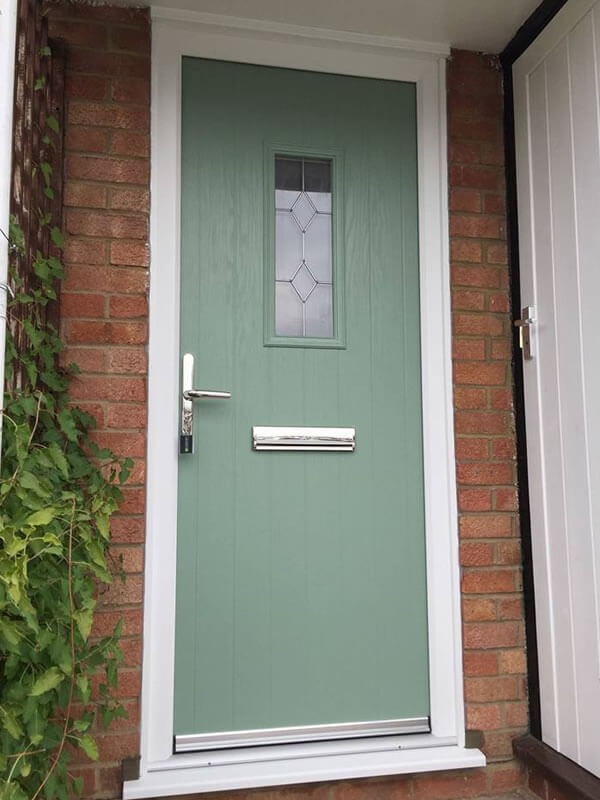 Old Upvc Door Replaced With Modern Chartwell Green