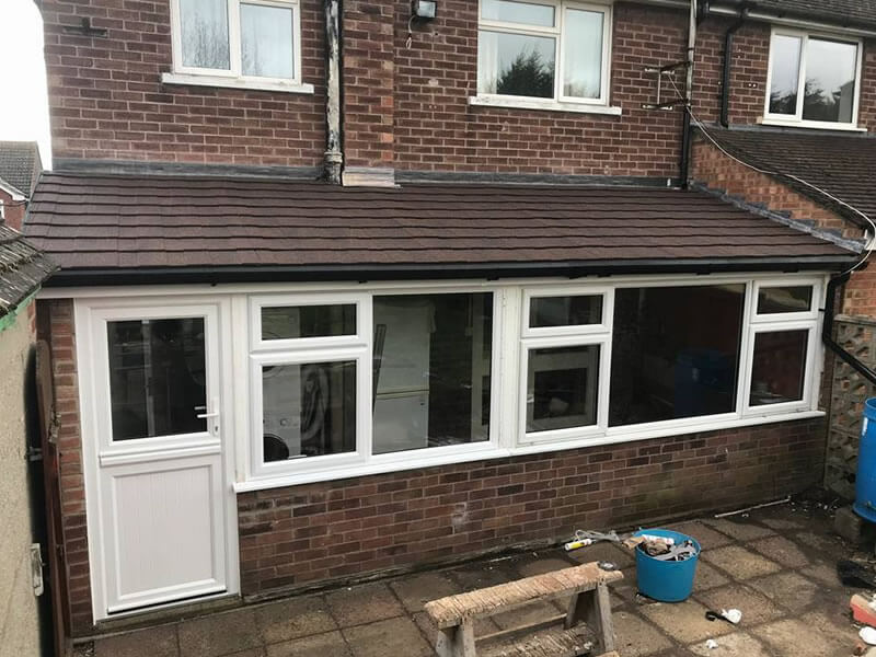 Lean To Conservatory Updated With New Lightweight Tiled